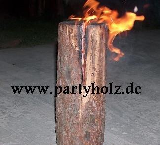 partyholz.de 2 Stück Schwedenfeuer/Baumfackel XXL (90cm)