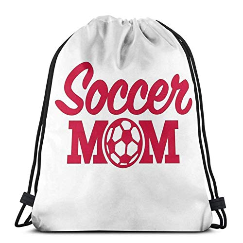 AOOEDM Soccer Mom Sport Sackpack Zaino con coulisse Borsa da palestra