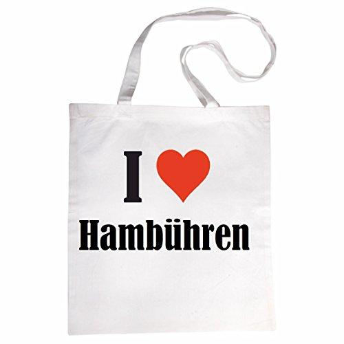 """Tasche""""I Love Hambühren""""Größe""""38×42″Farbe""""Weiss""""Druck""""Schwarz - 2"""