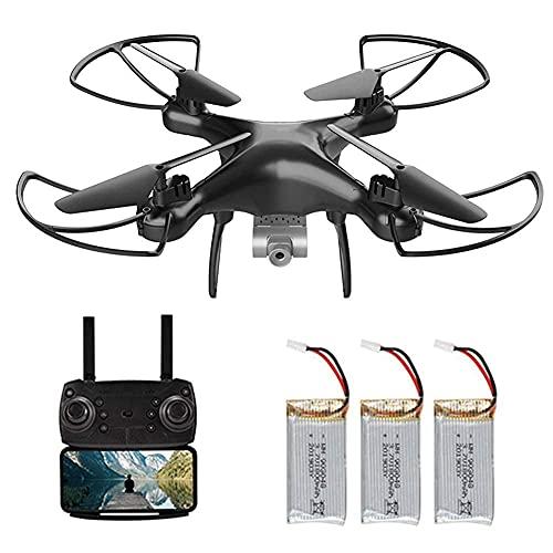 Drone a Doppia Lente con Telecamera FPV 4K HD Distanza Telecomando Circa 100 m Regolazione velocità 3 modalità Senza Testa Tempo Volo Circa 60 Minuti con
