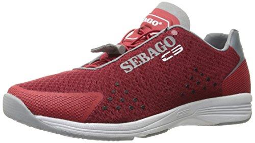 Sebago Sebago Herren Cyphon Sea Sport, Textil rot/grau, 42 EU