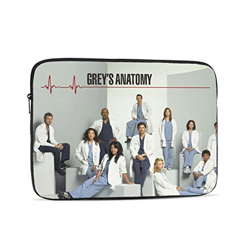 Grey's Anatomy Laptop Sleeve Bag,360° Protective Computer Bag Notebook for Men Women