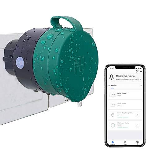 UCOMEN Outdoor Sockets WLAN Smart Steckdose WiFi Stecker Smart Plug Funktioniert mit Amazon Alexa und Google Home - 2er Pack