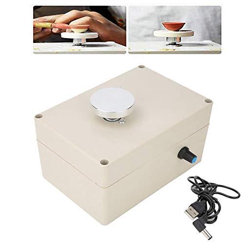 Caredy Keramikscheibe, 5 V 2000 U/min Töpferscheibe Formmaschine Elektrische Töpferscheibe DIY Tonwerkzeug USB Fingertip Mini Elektrische Keramikmaschine Arbeitston