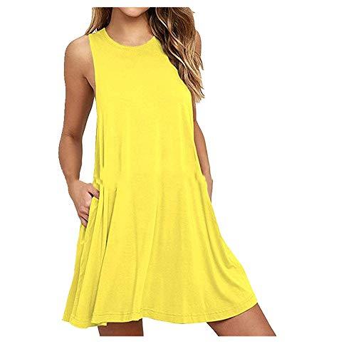 Verano nuevo vestido de chaleco sin mangas para mujer