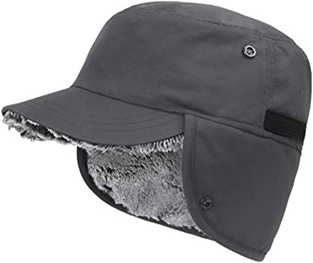ZffXH Winter Baseball Cap Earflaps hat Brim Ranking TOP6 Fur Faux Waterproof Max 52% OFF