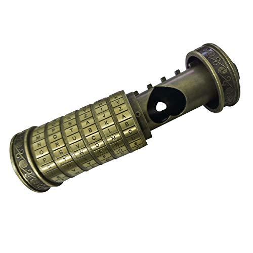Fechadura do alfabeto da Da Vinci, Mini Cilindro LockBox, Cadeado com combinação de senha, Cadeado de código da Vinci, Travas de criptex, Presentes de Casamento Retrô Presente de Dia dos Namorados