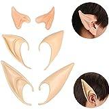 Beelittle Latex Elf Ear Pixie Orejas de Duende Puntiagudas Suaves Dientes de Vampiro Colmillos...