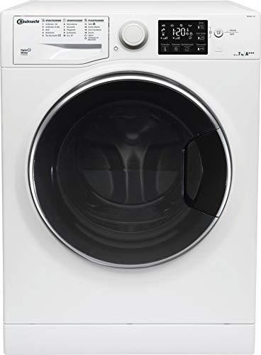 Bauknecht WM Steam 7 100 Waschmaschine Frontlader/A+++/1400 UpM/7 kg/langlebiger Motor/Antiflecken 100/Dampf-Option pflegt Wäsche hygienisch rein/EcoTech Mengenautomatik