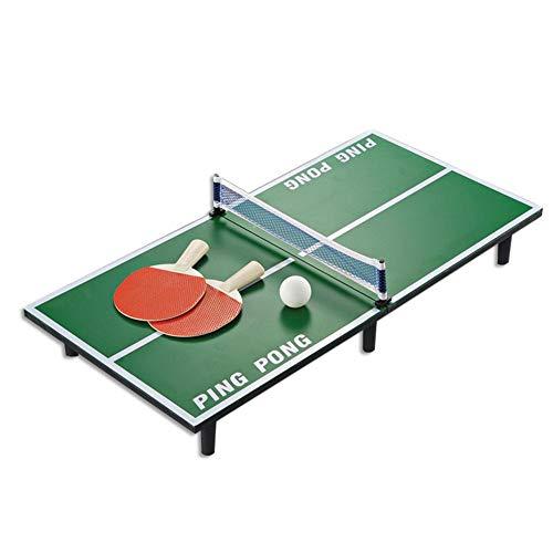 shinebright Mini Table de Tennis de Table - Table de ping-Pong, 2 Raquettes et 2 Balle 60x30x6.5cm