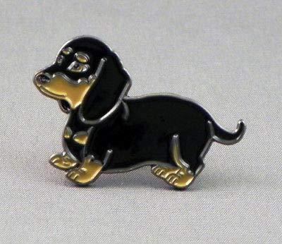 Dackel Teckel Dachshund Hund Emaille-Abzeichen Anstecknadel