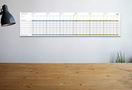weekview A5 weekview Projekt- und Urlaubsplaner 2021, A5-Leporello, 20 x 84 cm, für 20 Personen