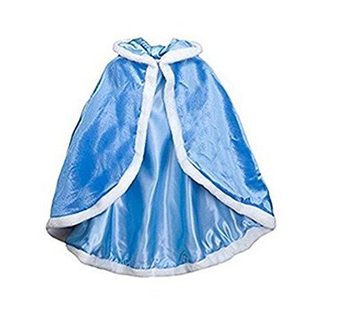 Cleana Arts Girls Cape Christmas Princess Hooded Cape Cloak Costume