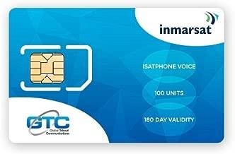 Inmarsat IsatPhone Prepaid SIM Card with 100 Units (67 Minutes)