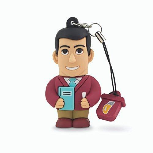 Professional USB profesor Hombre, simpatiche Memorias USB Flash Drive 2.0Memory Stick Almacenamiento de Datos, llavero, Pendrive 8GB