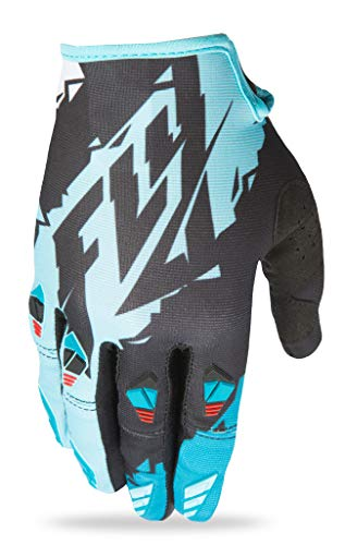 Fly Racing Unisex-Adult Kinetic Gloves (Black/Dark Teal, X-Large)