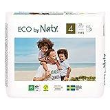 Eco by Naty, Premium-Bio‑Höschenwindeln Pants, Größe 4, 22 Stück, 8–15 kg, aus pflanzenbasierten Materialien, frei von gefährlichen Chemikalien