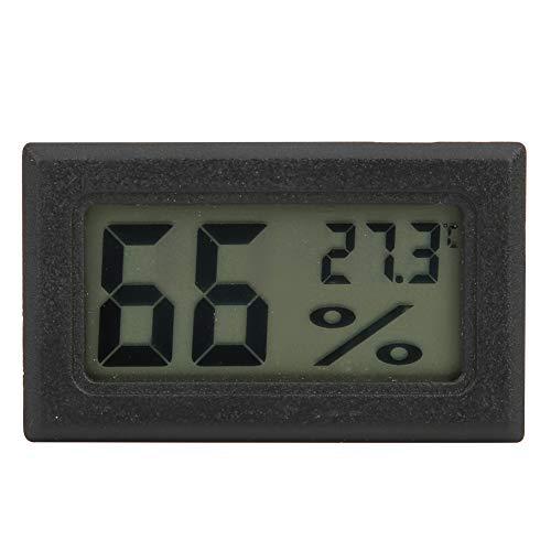 Vbestlife1 Nuevo higrómetro doméstico de Alta precisión, Mini Pantalla Digital electrónica con Temperatura para humidores, Invernadero, jardín, Bodega, Nevera, Armario