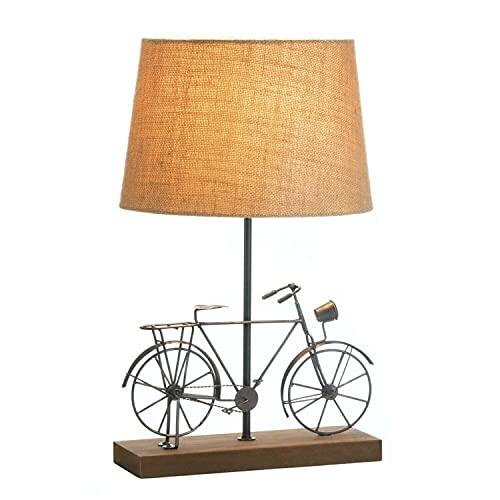 Lámpara de mesa para bicicleta antigua