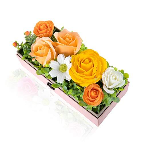 ソープフラワー 創意ジュエリーギフトボックス 誕生日 記念日 先生の日 母の日 バレンタインデー 昇進 転居など最適としてのプレゼントソープフラワー 創意ジュエリーギフトボックス 誕生日 母の日 記念日 先生の日 バレンタインデー 昇進 転居など最適としてのプレゼント (シャンパン+長方形の箱)