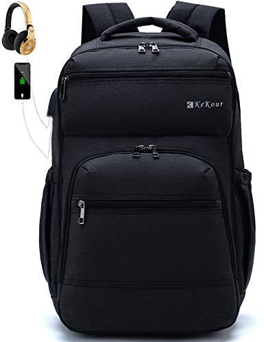 Mochilas Hombre, Mochilas Escolares Juveniles para 15.6'' Portátil Mochila Unisex de Carga USB Backpack Resistente Al Agua Mochilas Escolares para Mujeres Hombres