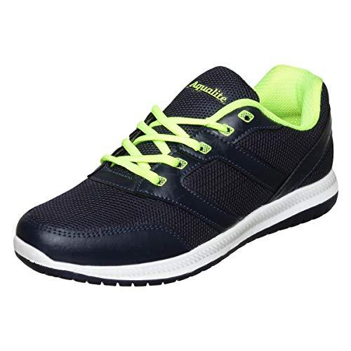 Aqualite Men's N.Blue/F.Green Running Shoes-9 UK/India (43 EU) (Aqua_MAX-301N.BLU/F.GRN 09)