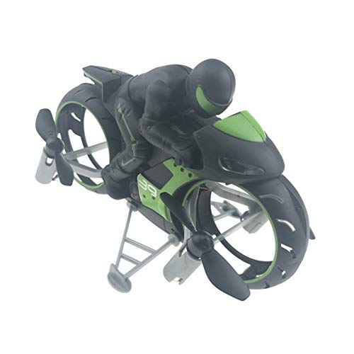 Motocicleta teledirigida RC, Dron de Motocicleta 2 en 1 terrestre/aéreo de Carreras de Coches RC, Avión de Motocicleta Inteligente con Luces Brillantes, Vehículo de Acrobacias de Alta Velocidad