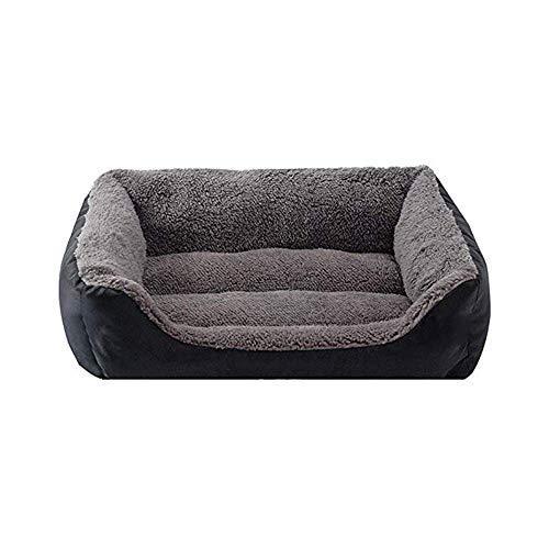BANANAJOY Haustiere Betten, Plüsch-Hundebett, bequemes weiches Hundebett Tragbare Plüsch Nest warme weiche Kissen leicht zu reinigen wasserdichte Haustier Sofa (Color : Gray-s)