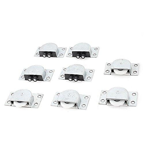 4 paar 23 mm wit wiel zilver toon schuifdeur roller voor kast