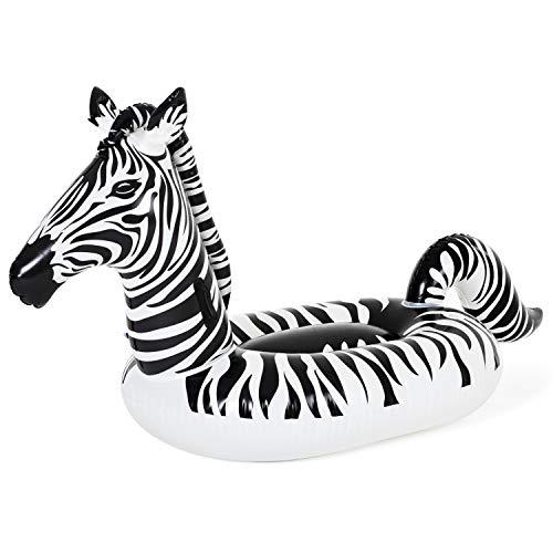 Bestway 41406 254 x 142 cm Schwimmtier Zebra mit LED-Licht