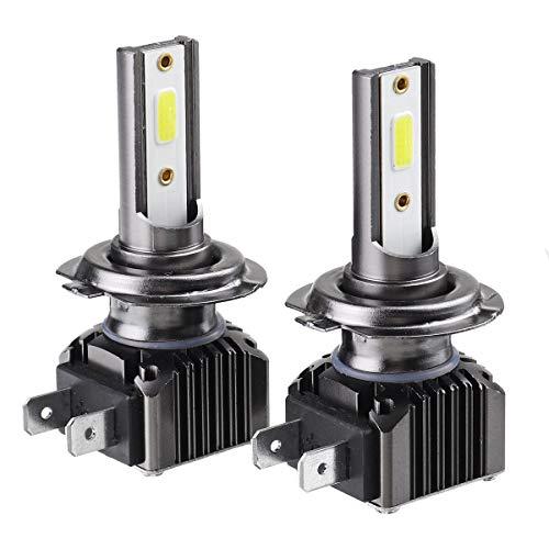 YALIXING Faros de Coche - COB LED Faros de Coche H1 H4 H7 H8 / H9 / H11 9005 9006 36W 6000LM 9-36V 6000K IP68 Blanco IP68 2pcs Ahorro de energía y Larga Vida útil. (Color : H7)