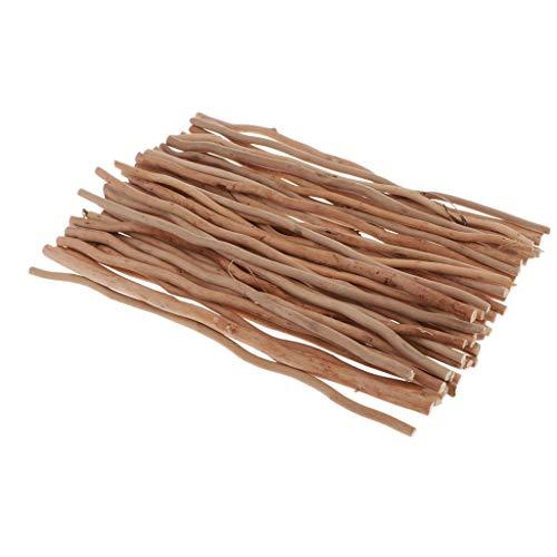 P Prettyia 50x natürliche Treibholz Holzscheiben Verzierung Holzstücke zum Dekorieren basteln für DIY Handwerk - 40cm