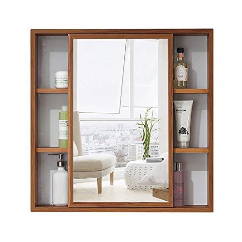 Knipperlichten grote capaciteit badkamer spiegel kabinet, badkamer opbergkast, links en rechts schuifdeuren, ruimte aluminium profielen, tweekleurige selectie, anti-fouling