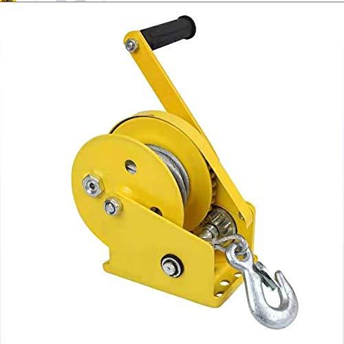 Add Handwinde Trailer Seilwinde 1100 kg Handseilwinde Seilwinde Hand Winde Bootswinde Anhänger Handwinde Länge Seil: 10-30m,Baremetal+30meterwirerope