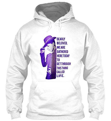 Prince Rogers Nelson Dearly Beloved White Hoodie, Unisex