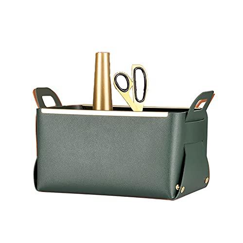 ABUKY 1 caja de almacenamiento plegable desmontable de cuero organizador de escritorio multicolor opcional