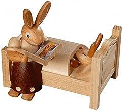 عيد الفصح الأرنب، أنثى، أم تقول حكايات الليل، ارتفاع 10 سم / 4 بوصة، ازرجبرجي الأصلي من قبل مولر سيفين