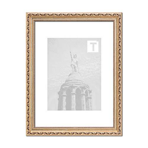 Barock-Bilderrahmen Anastasia Antiksilber 24 x 30 cm Museumsglas 2mm Klassik Verzierungen edel