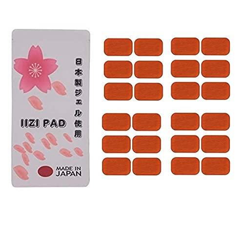 純日本製商品 IIZI PAD(イージーパッド) 最新版 [24枚セット シックスパッド アブズフィット 対応 互換品 ジェルシート ジェルパッド ジェル 日本製ジェル]腹筋 シックスパット 対応 互換 高電導 ジェルシート ジェルパッド 非純正品