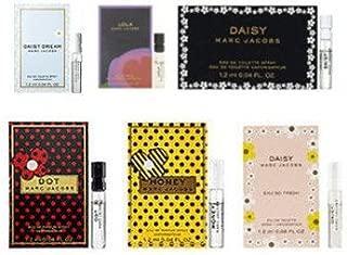 6 Marc Jacobs Daisy Dream, Honey, Daisy Eau so Fresh, Dot, Daisy, Lola Sample Vial 1.2 Ml/ 0.04 Oz Each Lot