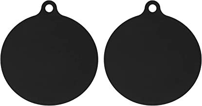 Mobestech 2pcs Black Microwave Turntable Mat Silicone Round Hot Pot Pans Pad Holders Heat Resistance Nonstick Oven Pads Ai...
