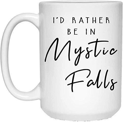 ampire Diaries - Taza de café, diseño de Mystic Falls, Elena Gilbert, Bonnie Bennett