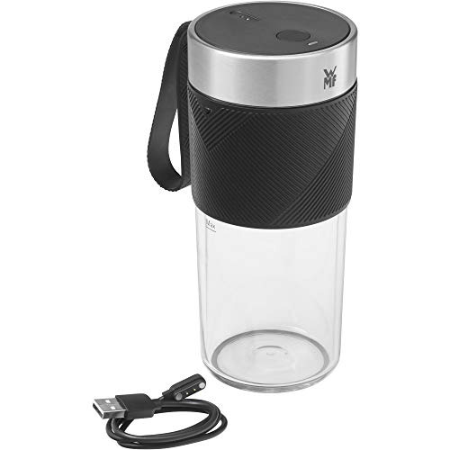 WMF Küchenminis Mix on the Go 300 ml, Mini Mixer to Go, USB Mixer Smoothie Maker, aufladbarer Personal Blender, tragbarer Mixer für Smoothies, Shakes
