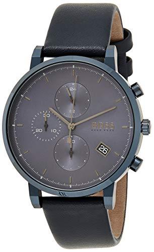 Hugo BOSS Reloj Cronógrafo para Hombre de Cuarzo con Correa en Cuero 1513778