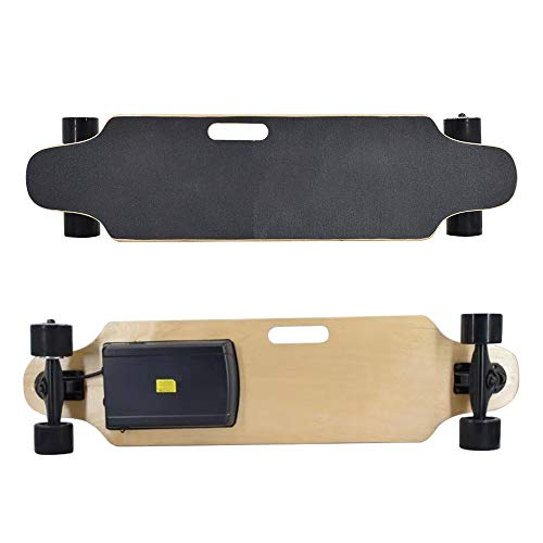 Vogvigo H20/H9/H8/H3-B Monopatín Eléctrico Longboard de con Control Remoto por Radio,Cubierta de Arce, Adecuado para Adolescentes y Adultos (Negro)