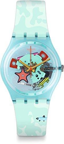 Swatch Unisex Erwachsene Digital Quarz Uhr mit Silikon Armband GL121