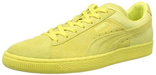 Puma Suede Classic Casual Emboss,Herren Sneakers, Gelb (Limelight), 38 EU