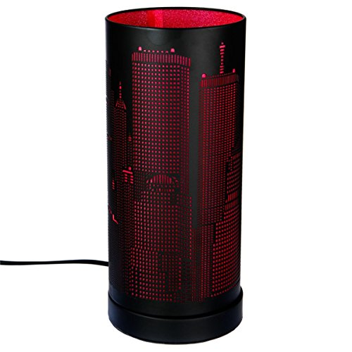 Lampe Tactile new york cylindrique Rose/Noir