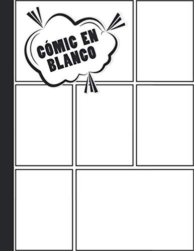 Cómic en Blanco: Libro de Dibujo en Blanco - Cuaderno de 110 Páginas Para Adultos y Niños (A4) - Variedad de Paneles (3,5,7 y 9 Paneles)