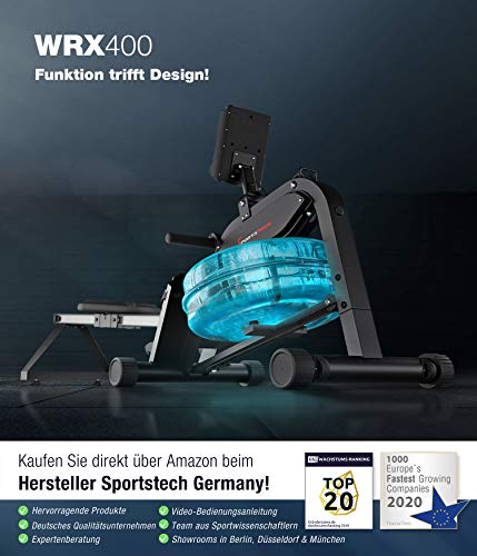Sportstech WRX 400 Premium Wasser Rudergerät Info